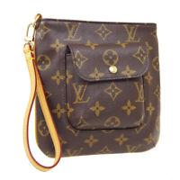 LOUIS VUITTON PARTITION CLUTCH BAG POUCH MI1010 PURSE MONOGRAM M51901 36823