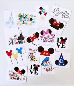 Disney Disneyland Disney Park Stickers Mickey Mouse Minnie Mouse Scrapbook