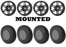 Kit 4 STI Chicane RX Tires 28x10-14 on STI HD7 Smoke Wheels IRS