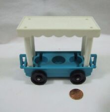Vintage Fisher Price Little People ZOO TRAIN TRAM BLUE COVERED CAR replace #916