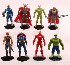 8PCS/Set Marvel's The Avengers PVC Figura Juguete Niños Regalo