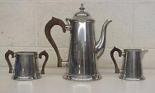 Vintage Steiff Pewter Metal 3-Piece Coffee/Tea Service w/Pot Cream & Sugar GREAT