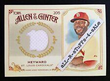 2015 Topps Allen & Ginter JASON HEYWARD Full-Size Relic JERSEY Cardinals #JHE