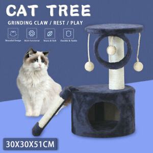 Cat Tree Scratching Post Scratcher Sleeper Toy Play Tree Hideaway House