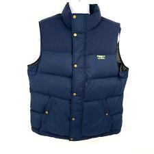 L L Bean Mountain Classic Down Vest Men's Size Large Solid Nautical Navy 505274