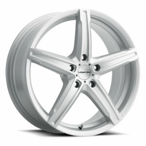 15X6.5 Vision 469 Boost 5x114.3 ET38 Silver Wheels (Set of 4)