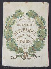 Juin 1848 Tissé sur soie de Saint-Etienne Aux défenseurs de la République Menu