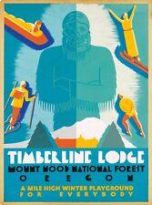 Timberline Lodge Mt. Hood National Forest Oregon United States Travel Poster