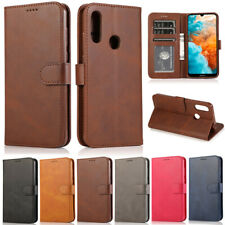 Luxury Plain Wallet Leather Flip Case Cover For Huawei Y7 2019 P30 Lite Y5 2019