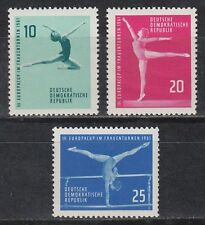 RDT East Germany 1961 ** mi.830/32 SPORT SPORTS GINNASTICA ARTISTICA Artistic Gymnastics