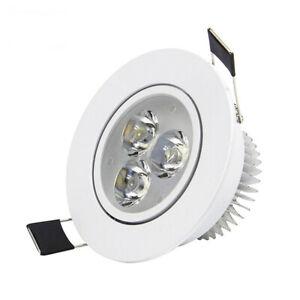9W LED Panel Light Recessed Ceiling Downlight Lamp Round Warm White 110V 220V