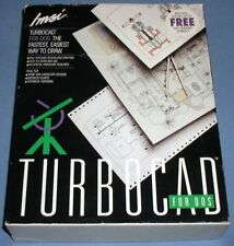 """IMSI TurboCAD 3.1 for DOS 3.5"""" and 5.25"""" Floppy Disks ** Complete in Box"""