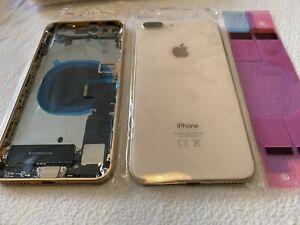 iPhone 8 Plus Gehäuse Gold Backcover Rahmen Akkudeckel Rückseite VORMONTIERT ...