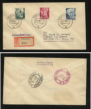 Germany  8N22-23  on  registered cover to  US  1949        MS0305
