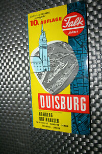 Falk-Plan Duisburg 10.te Auflage 1967