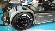 4x Michelin Reifenaufkleber für Tamiya Truck 1:14