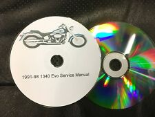 1991 -1998 Harley Davidson 1340 EVO Dyna & Softail Service Workshop Manual CD