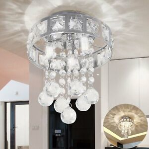 Modern Luxury Crystal LED Ceiling Light Lamp Fitting Pendant Chandelier Decor