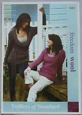 Twilley's  Ladies Jumpers  Knitting Pattern In Freedom Wool  Leaflet 9083