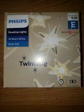 Philip's Dewdrop Lights 30 Warm White Silver Wire Twinkling