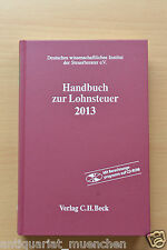 HANDBUCH zur Lohnsteuer 2013 LSt + Berechnungsprogramm CD ROM EStG Sozialversich