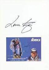 Lasse Kjus  Norwegen  Ski Alpin Karte 2 x original signiert WL 339849