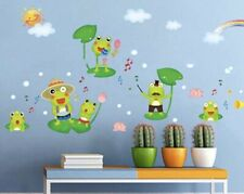 New ListingNew 29�x14� Frogs Playing Music On Lily Pads Vinyl Wall Art Decor Decal Stickers