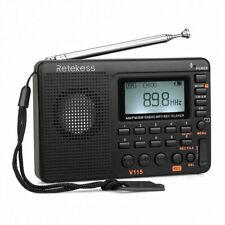 Pocket FM/AM/SW Radio Bass MP3 Player REC*Voice Recorder Sleep Timer Rechargable