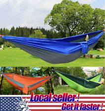US Portable Double 2 Person Travel Camping Hammock Sleep Swing Bed Outdoor sl