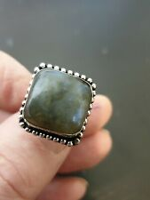 Trendy Rainbow Labradorite 925 STERLING SILVER Sf LADYS RING SIZE 9 us