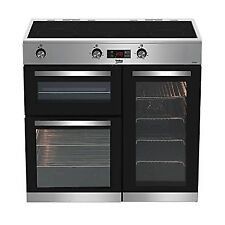 Beko Kdvi 90X 90cm Induction Electric Range Cooker-Stainless Steel