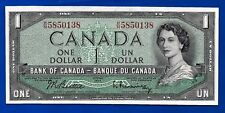 1954 CANADA Canadian ONE 1 DOLLAR BILL NOTE prefix H/N high crisp AU-UNC