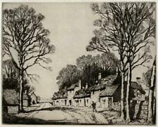 FREDA MARSTON (1895-1949) Signed Etching IN THE COTSWOLDS NEAR BROADWAY