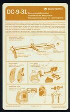 EASTERN Airlines DC 9 31 Airline SAFETY CARD airways brochure ee e514