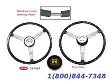"""""""Banjo"""" Style Vintage Steering Wheel Kit Black VW Bug Porsche 356 EMPI 79-4059"""