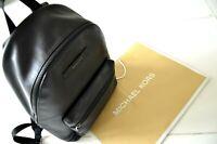 MICHAEL KORS MENS Hudson Pebbled Leather Backpack - Black  ***REDUCED***