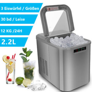 Ice machine Ice maker bar fast Silvery Ice cube maker counter Icemaker 2,2L