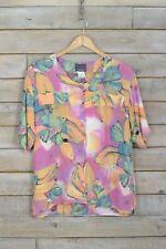 Vintage Rosa Camisa de Flores (L)