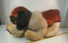 "Saint Bernard Puppy Dog Plush Animal Jumbo Vintage Novelty 33"" St Bernard"
