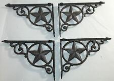 4 Shelf Garden Brackets Supports Cast Iron Brace Antique Style Star 7 x 9 1/2