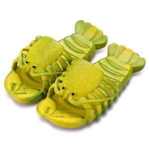 New Summer Beach Vacation Sandals with Lobster Shape Funny Novelty Lobster Shoes