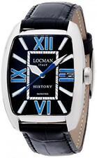 486N00BKFBL0PSK Locman History / orologio uomo / quadrante smaltato nero / ca...