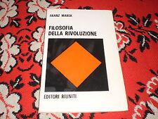 franz mark filosofia della rivoluzione edi. riuniti 1968