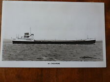 Lot14d Motor Vessel SAGAMORE Furness Withy & Co Postcard