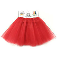 Adult 4 Layer Red Tulle Skirt 80's Dance Tutu Superhero Party Costume