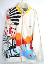 Vintage AKDMKS JEANIUS  Music, Art, & Fashion /White Full Zip Jacket SZ XL