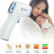Non-Contact Infrared Thermometer LCD Digital Forehead Baby Adult Temperature Gun