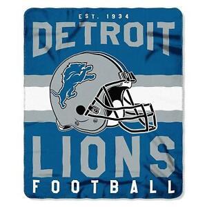 """Detroit Lions 50"""" x 60"""" Singular Fleece Throw Blanket by Northwest"""