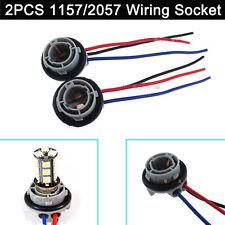 2pcs 1157 2057 LED Bulb Signal Tail Brake Light Wiring Socket Harness Hot Sell