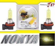 Nokya 2500K Yellow H9 Nok7625 65W Two Bulbs Head Light High Beam Replacement Fit